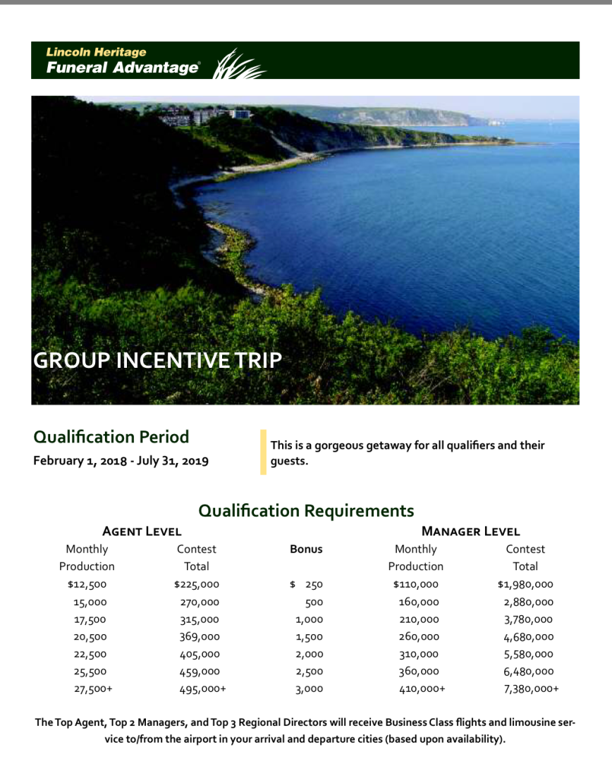 Chile 2019 Incentive Trip Qualification