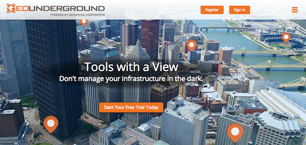 GeoUnderground home page screenshot
